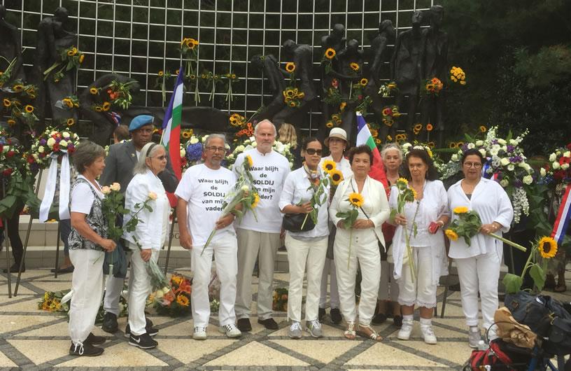 Bij het Indisch Monument, tweede generatie, 15 augustus 2018